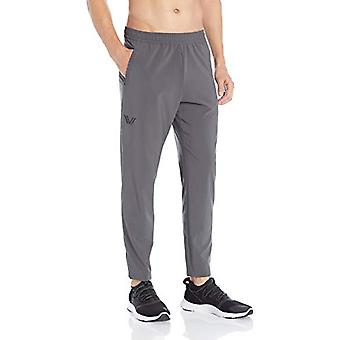 Peak Velocity Men's Woven Athletic-Fit Run Pant (Multiple Inseams), Asphalt G...