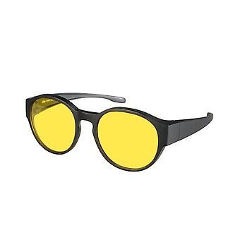 overzetnachtbril zwart unisex met gele lens Vz0039lh