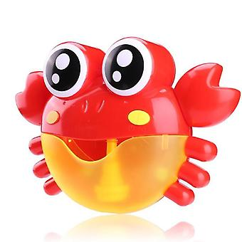 Bubble Machine Crabs Music Light Electric Bubble Maker - Baby Outdoor Swimming Bathtub Soap Machine With Music Water Toy Cute