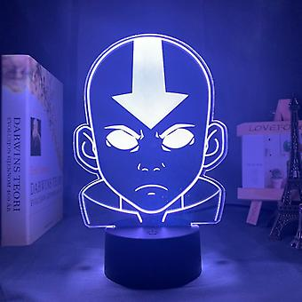 Acrylique 3d Lamp Avatar The Last Airbender Nightlight, Room Decor The Legend Of