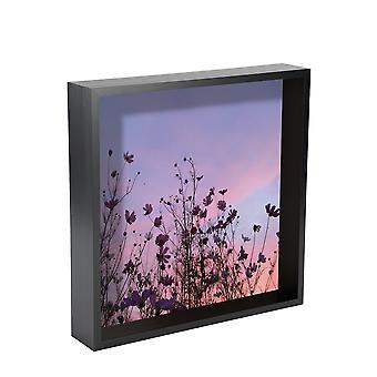 Nicola Frühling Box Fotorahmen - 12 x 12 Quadrat Acryl Rahmen - schwarz
