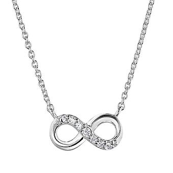 Dew Sterling Silver Infinity Cubic Zirconia 16 Necklet 9517CZ027