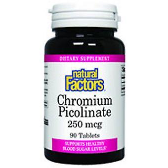 Natural Factors Chromium Picolinate, 250 mcg, 90 Tabs