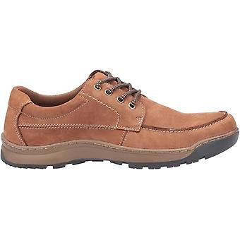Hush Chiots Tucker Lace Mens Nubuck Casual Shoes Tan
