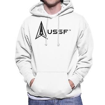 U.S. Space Force Light Logo USSF Men's Hooded Sweatshirt