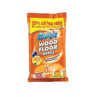 Duzzit Wood Floor Wipes 24 Pack DZT012B