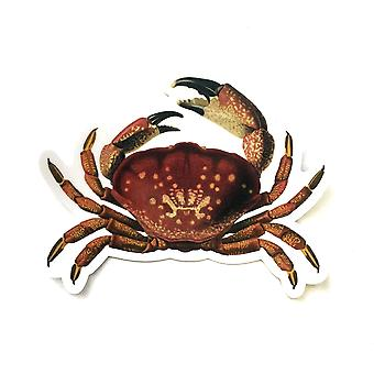Vintage Crab Vinyl Sticker