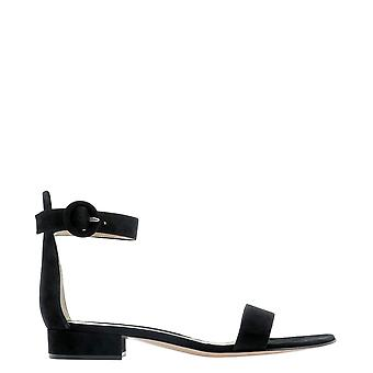 Gianvito Rossi G6035420riccamblack Women's Black Suede Sandals