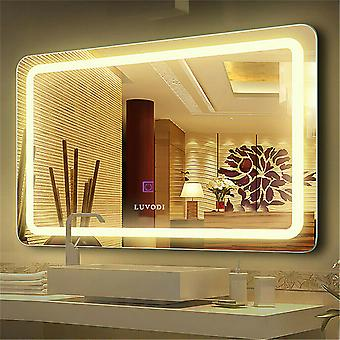 600x800mm Bathroom Mirror Illuminated Led Wall Hung Dimmable Light