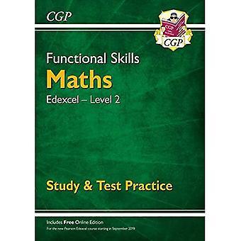 Novas habilidades funcionais Edexcel Math Level 2-estudo & prática de teste (com edição online)