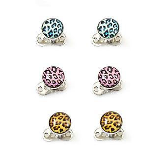 Dermal top and anchor with tiger pattern pack of 6