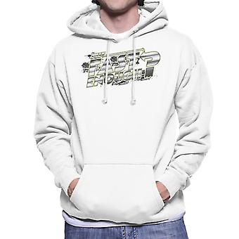 Fast and Furious Just Fast Enough Chrome Text Men's Hooded Sweatshirt