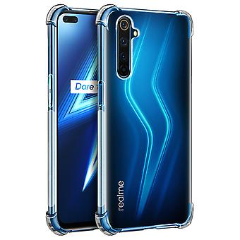 Back cover for Realme 6 Pro Flexible Case with Bumper Corners - Transparent