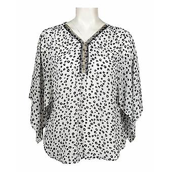 Caftan Style Crepe Blouse Top