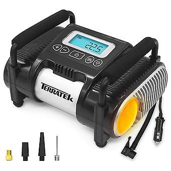 Terratek Car 12v Digital Tyre Inflator Digital Compressor Air Tool Pump 100psi