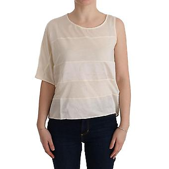 Puku National Beige Epäsymmetrinen Top Pusero