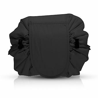 Women's Cosmetic Drawstring Bag Cosmetic Pouch - Black