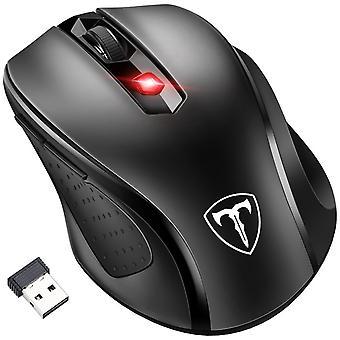 [Updated version] wireless mouse, patuoxun 2.4g usb wireless mice pc laptop computer cordless mouse