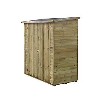Caseta de jardon adosada LIPKI - 1,79 x 0,90 x 1,76/1,86 m - 1,62 m2 - 12 mm - Con suelo