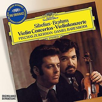 Zukerman/Barenboim - Originals: Sibelius-Violin Concerto/Brahms [CD] USA import