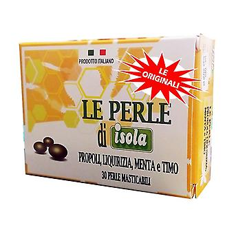 The pearls of isola propolis, licorice, mint and thyme 30 softgels