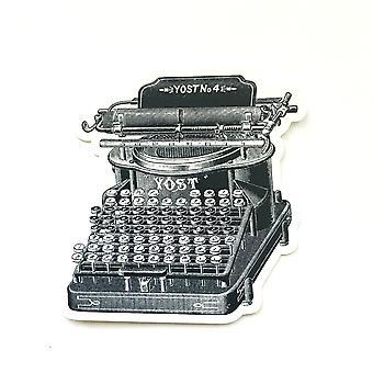 Vintage skrivemaskin Vinyl Klistremerke