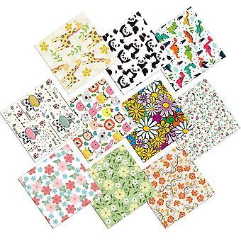 10 pezzi- Cotton Craft, patchwork in tessuto, cuciture quadrate (rosa)
