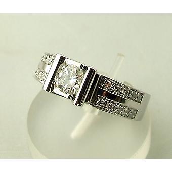 Diamanten wit gouden ring