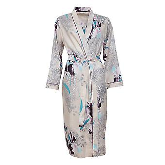 Cyberjammies Gabriella 4744 Women's Beige Animal Print Cotton Robe
