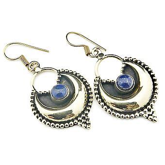Boucles d'oreilles en laiton lapis bleu lattes (932-02-021-06)