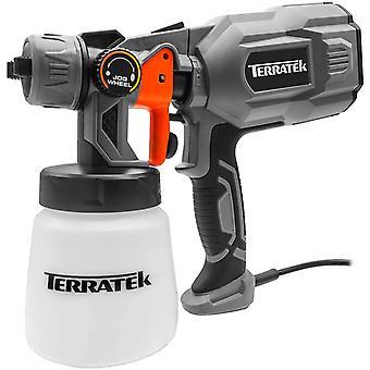 Terratek Paint Sprayer, 550W DIY Electric Spray Gun with 3 Spray Patterns, 1 x 800ml Paint Cups
