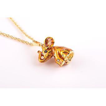Colar de pingente de elefante de ouro