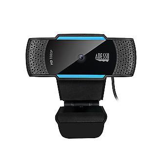 CyberTrack H5 Webcam HD 1080P - webcam autofocus - microphone double intégré - pièce jointe trépied et obturateur de confidentialité