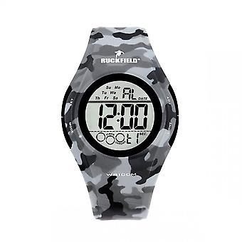 Watch Ruckfield 685066 - Digital Silicone Grey Camouflage Men