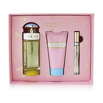 Prada Candy Sugar Pop Coffret: Eau De Parfum Spray 80ml/2.7oz + Body Lotion 75ml/2.5oz + Roll-On 10ml/0.34oz 3pcs