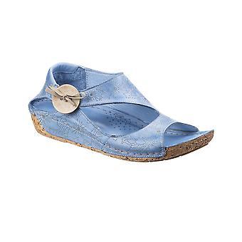 Riva Womens/damer Arlo resår knappen Läder sandaler