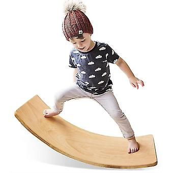 Wooden Wobble Balance Board,preschool Toys Kid Yoga Board
