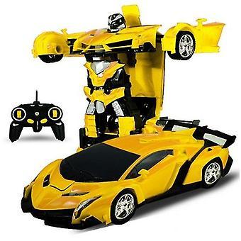 2 في 1 التحكم عن بعد روبوت التحول الروبوت نموذج سيارة التحكم عن بعد