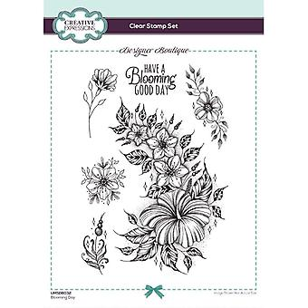 Creative Expressions Designer Boutique Collection Blooming Day A5 Clear Stamp Set