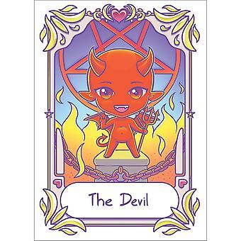 Dödlig tarot djävulen Kawaii affisch