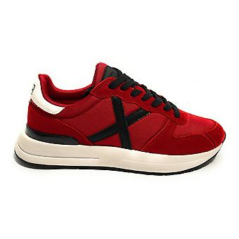 Shoes Munich Sneaker Men's Running Soon 11 Suede and Red Fabric U21mu11