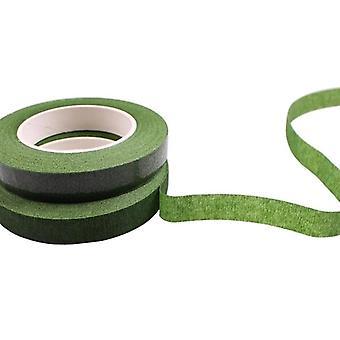 Zelfklevende green paper tape, enting film, bloemen stam voor slinger,