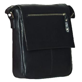 Ashwood Leather Ted Small Messenger Bag - Zwart