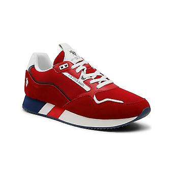 Shoes U.S. Polo Sneaker Running Lewis 143 Suede/ Mesh Red Men Us21up13