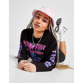 New Supply & Demand Women's Young Thugger Long Sleeve T-Shirt from JD Outlet Black