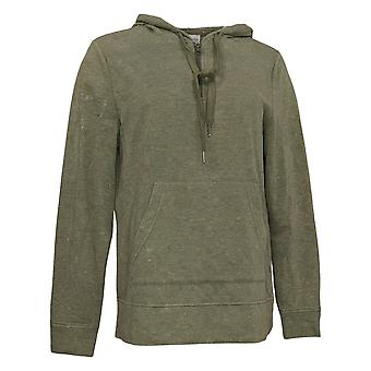 Koolaburra By UGG Women's Vintage Wash French Terry Hoodie Green A386470