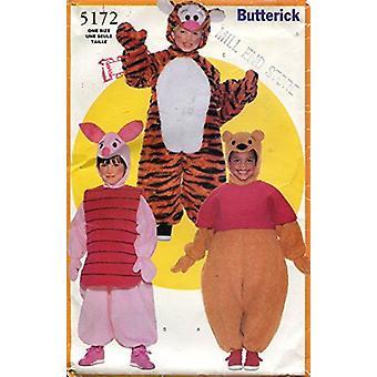 Butterick نمط الخياطة 5172 بنين بنات بوه Piglet الأزياء حجم 1-6