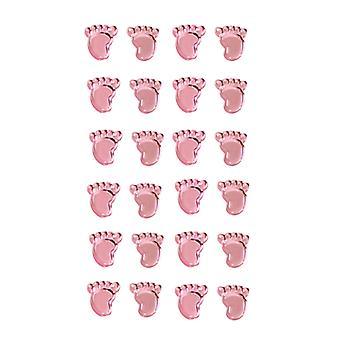 Oaktree UK Ltd - Girl Footprints Pearl Pink Stickers