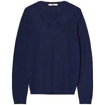 find. Men's Cotton V-Neck Sweater, Blue (Navy), EU XXL (US XL)