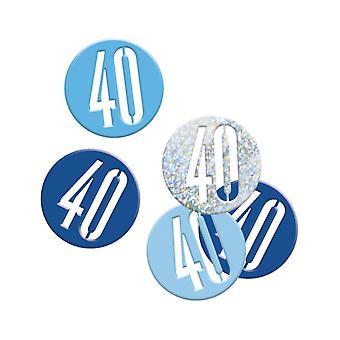 Confettis bleu/gris Age 40 ans